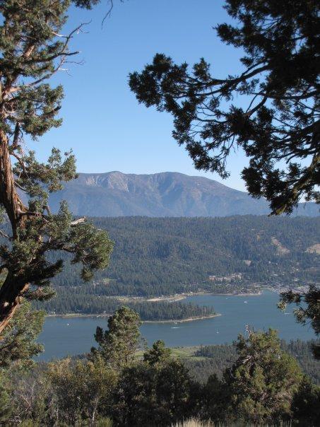 Big Bear Lake from just below Bertha Peak