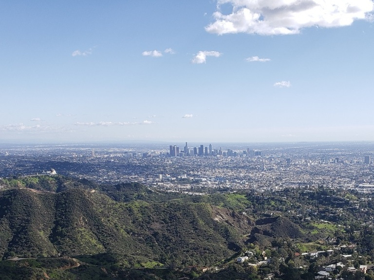 Downtown Los Angeles from Mt. Lee, California