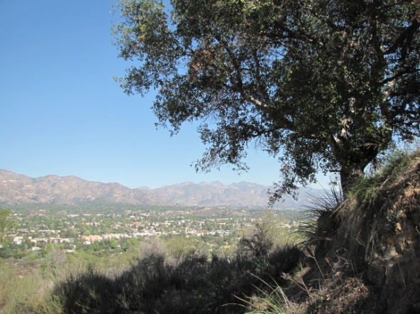 View of the San Gabriels from the Oakmont Loop