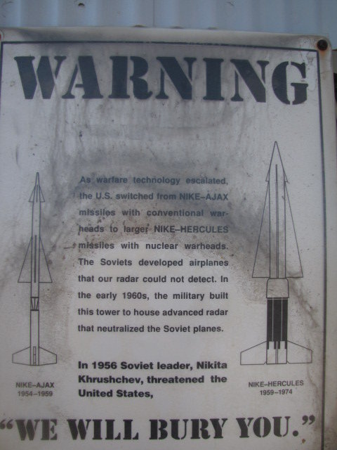 Friendly warning from San Vicente's days as a military installation