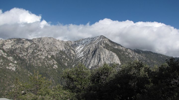 Tahquitz Peak and Lily Rock as seen from Suicide Rock, San Jacinto Mountains, Riverside County, CA