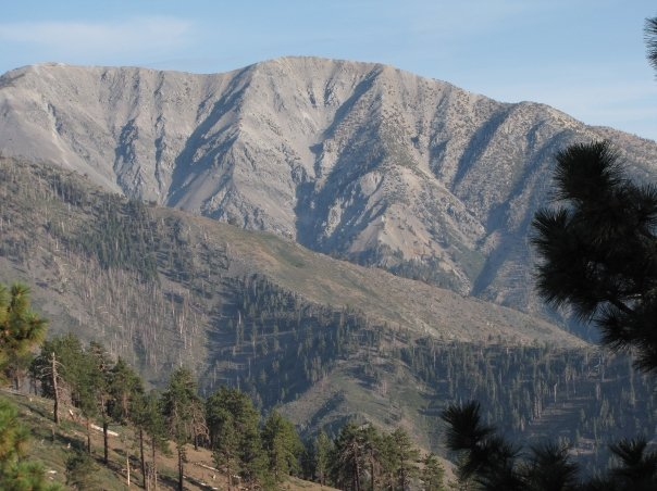 Mt. Baldy from the junction of the Blue Ridge and Pacific Crest Trails