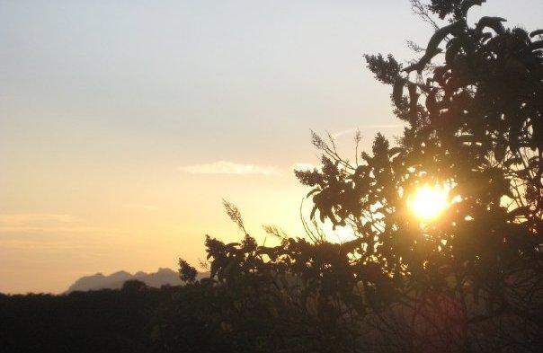 Sunset on the Backbone Trail in the Santa Monica Mountains, Malibu, CA