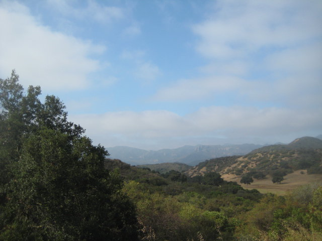 View from the Los Robles Trail
