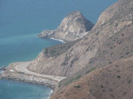 Pacific Coast Highway from the Backbone Trail, Point Mugu State Park