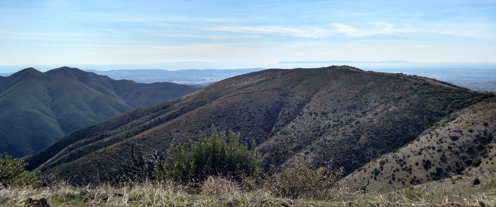 View from Bedford Peak, Orange County, CA