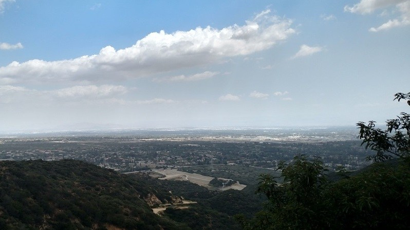 Panoramic view from the Claremont Wilderness Area, Claremont, CA