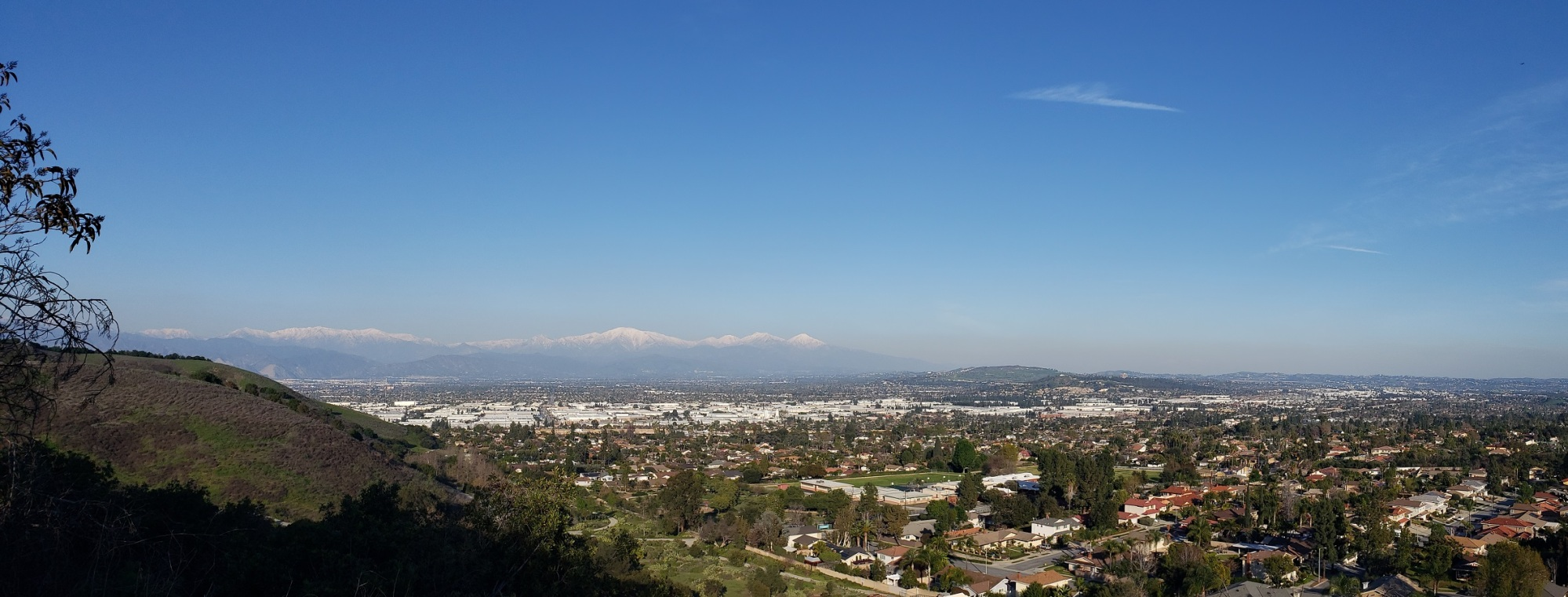 Mt. Baldy view from the Puente Hills, California