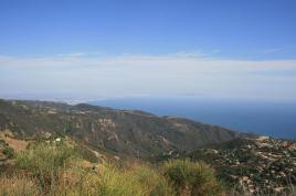 Santa Monica Bay from Saddle Peak