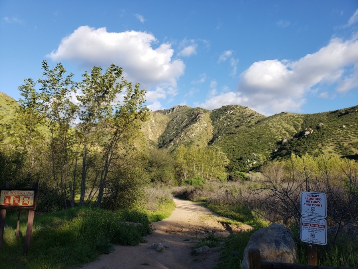 Cedar Creek Falls trail, San Diego County, CA