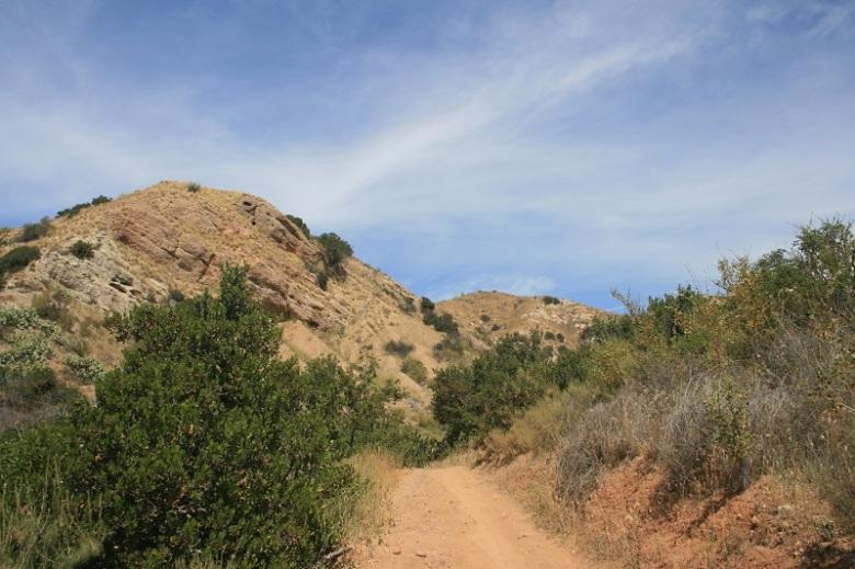 Trail connecting Irvine Regional Park and Santiago Oaks Regional Park, Orange County, CA