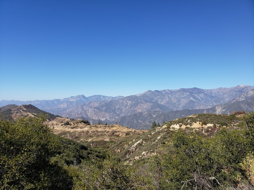 Sunset Peak hike, Angeles National Forest