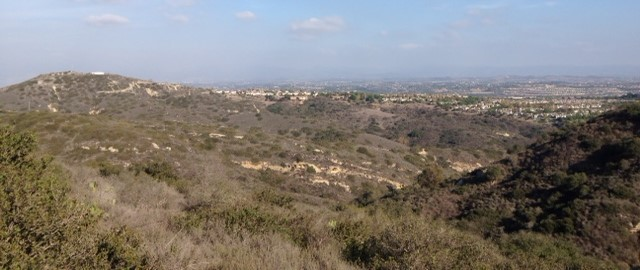 Looking east from the West Ridge Trail, Aliso & Wood Canyons Wilderness Park