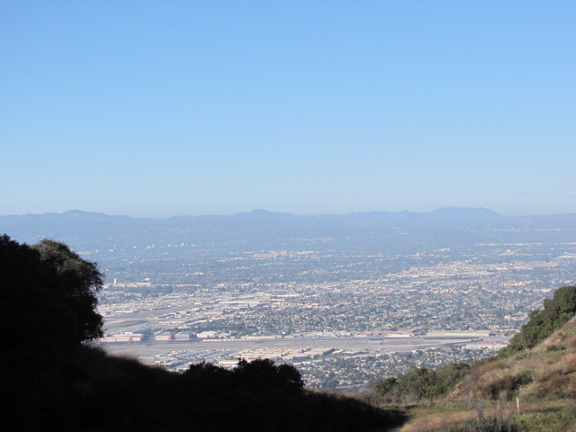 Looking down at the LA Basin from Stough Canyon