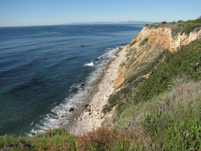 Ocean and bluffs at Point Vicente