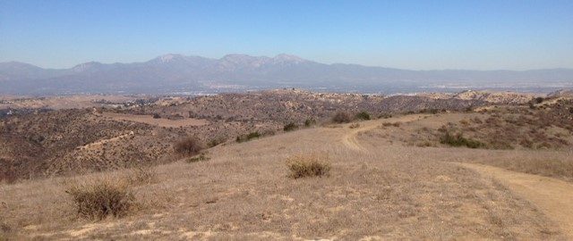 Baldy and the San Gabriels from Gilman Peak