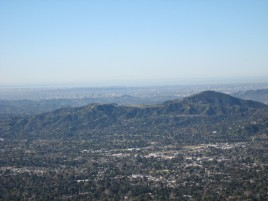 Hollywood Hills from Echo Mountain