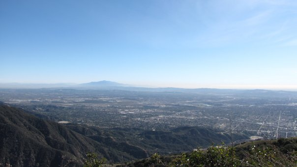 Looking southeast toward the Santa Ana Mountains from the San Olene Fire Road