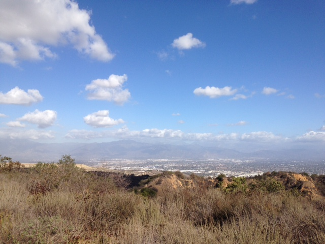 View of the San Gabriels from the top of the Turnbull Canyon Loop