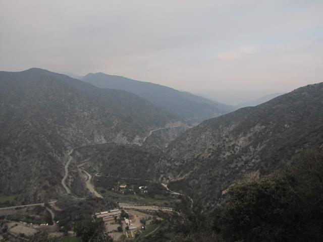 Looking north into San Gabriel Canyon from top of the Garcia Trail