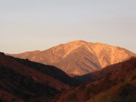 Mt. Baldy at dusk from the Wren Meacham Trail