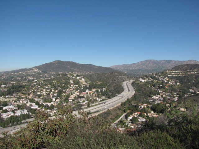 View of the 2 Freeway from the Valle Vista Fire Road