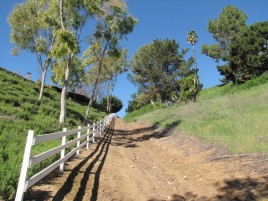 Heading up to Caballero St on the Willow Springs Trail