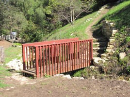Footbridge in Miraleste Canyon