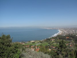 Santa Monica Bay from the Paseo Del Sol fire road