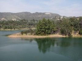 Hollywood Reservoir from the Mulholland Dam
