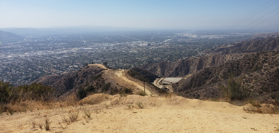 Fire break on Mt. Thom, Glendale, CA