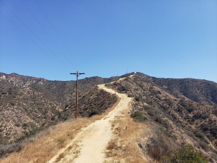 Fire break, Verdugo Mountains, Glendale, CA
