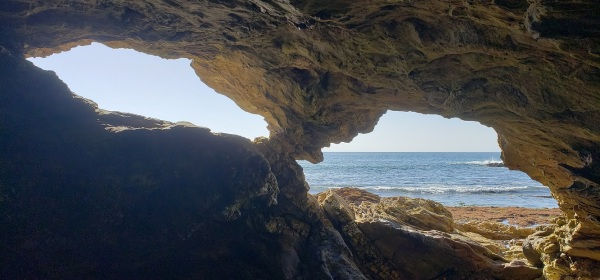 Sea caves, Corona Del Mar, CA
