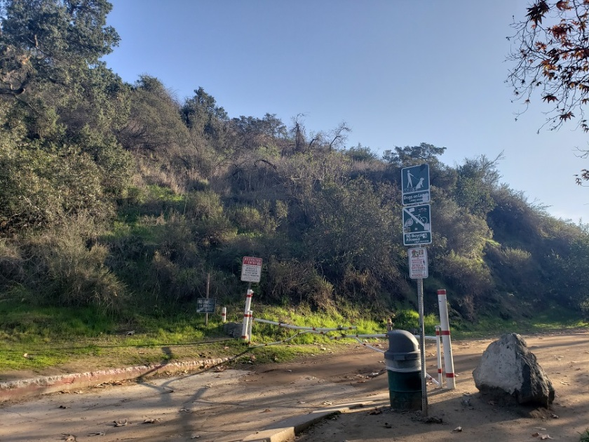 Bronson Cave trail head, Griffith Park