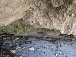 Sea cave on El Matador Beach