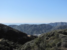 View from the Temescal Ridge Fire Road