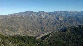 View from Echo Rock near Mt. Wilson's summit