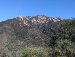 View from the Backbone Trail south of Piuma Road