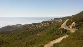 Ocean View from the top of the Hondo Canyon Trail