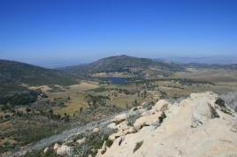 Looking north from Stonewall Peak to the Cuyamaca Reservoir