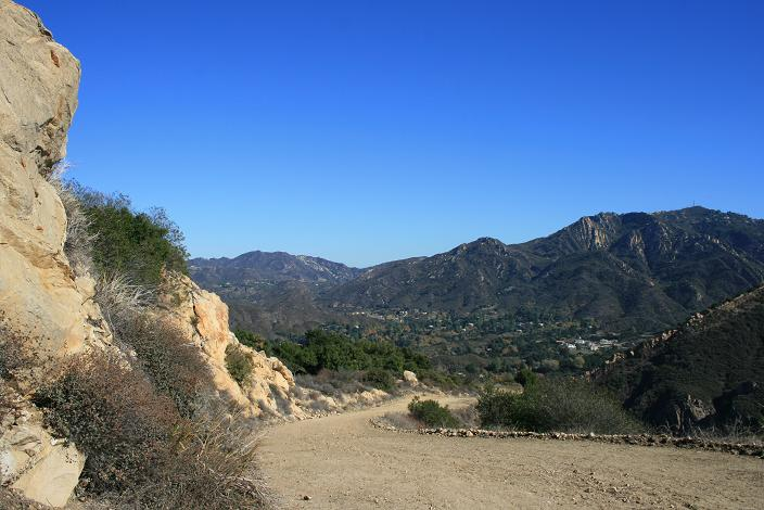 Calabasas Peak (L) and Saddle Peak (R) from the Backbone Trail