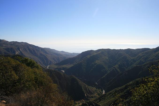 Ocean view from the Backbone Trail