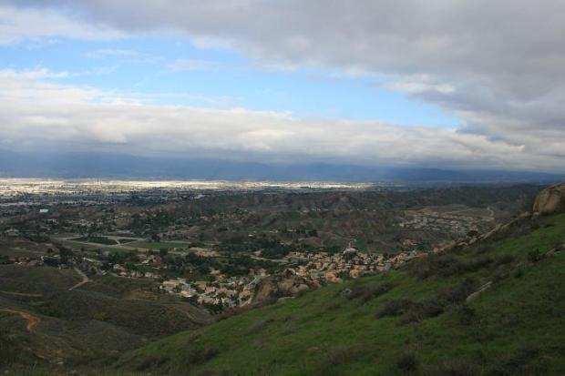 Looking north toward San Bernardino from the Blue Mountain Trail