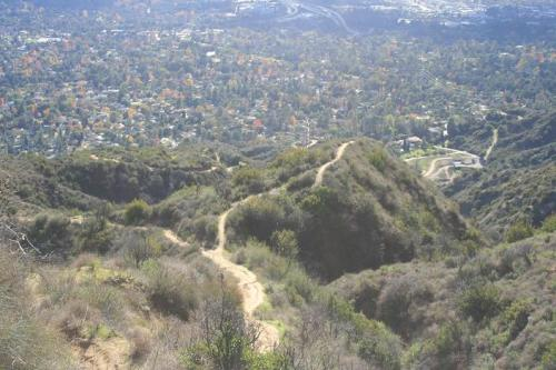 Looking down from the Crosstown Trail
