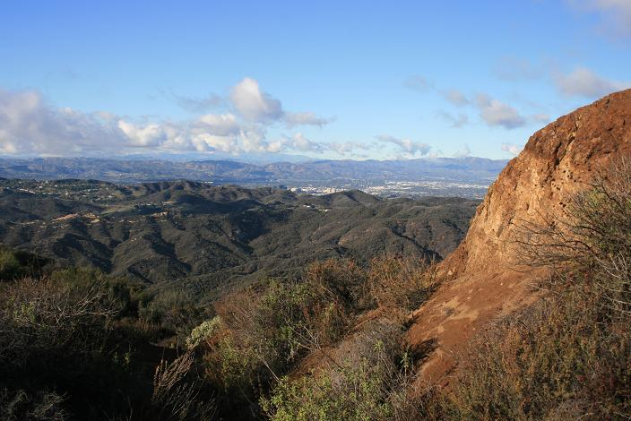 View of the San Fernando Valley from the Eagle Springs Fire Road