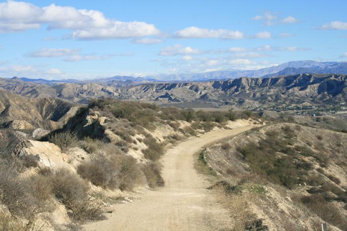 Looking east from the fire road at the top of Haskell Canyon