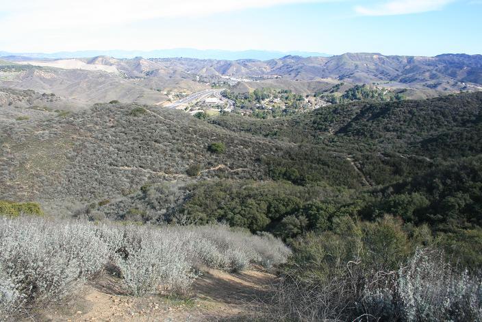 Steep descent from Heartbreak Ridge