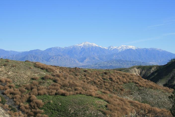 San Bernardino and San Gorgonio from Hulda Crooks Park