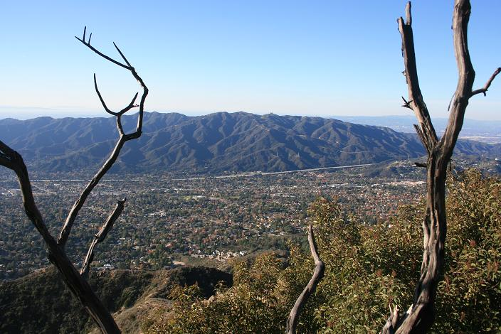 View of the Verdugo Mountains from the Crescent View Trail