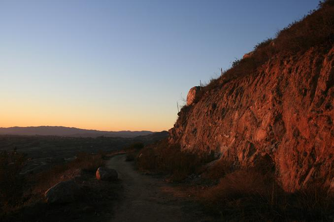 Dusk on the Monserate Mountain trail